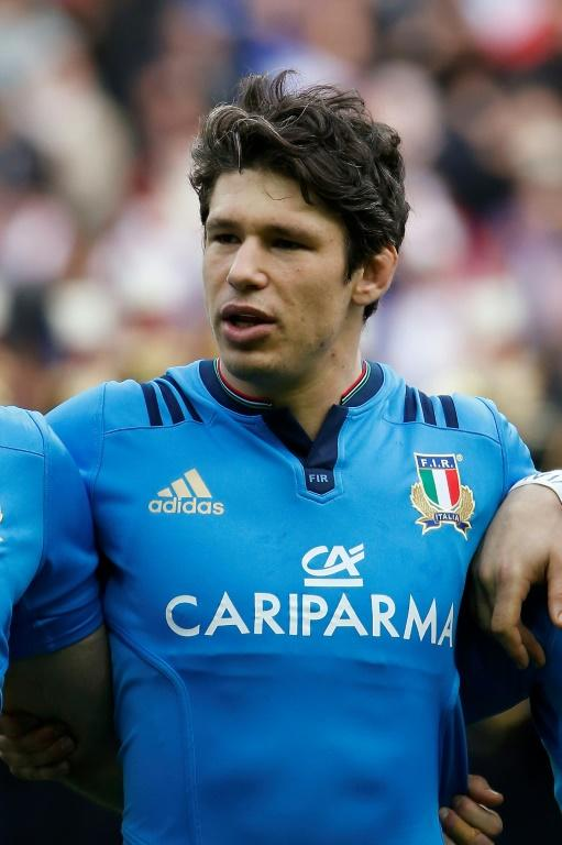 Italy's captain Francesco Minto, seen ahead of a S Nations rugby union match in Saint-Denis, France, in 2016