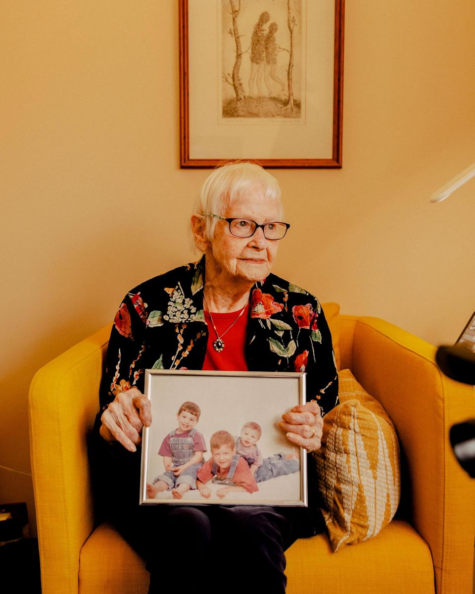 "Ronnel, 92, hopes the vaccine will allow her to embrace her children and grandchildren, whom she hasn't seen in person since the fall<span class=""copyright"">Evan Jenkins for TIME</span>"