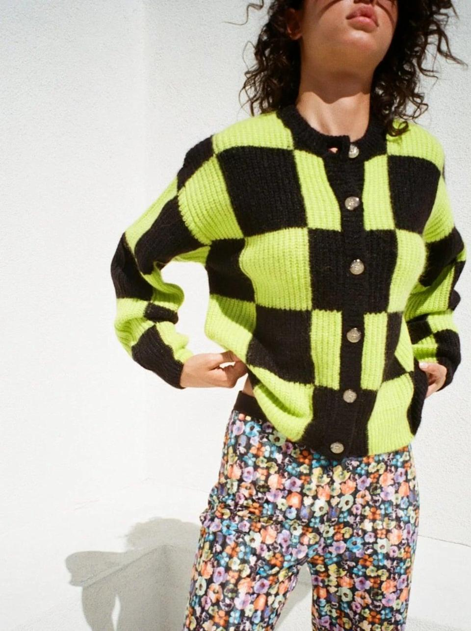 <p>This <span>Stine Goya Harry Cardigan</span> ($420) is a bold take on a fall staple, and we're so into it. If you're feeling brave, get it for yourself, too, and pair it with printed trousers for a loud statement.</p>
