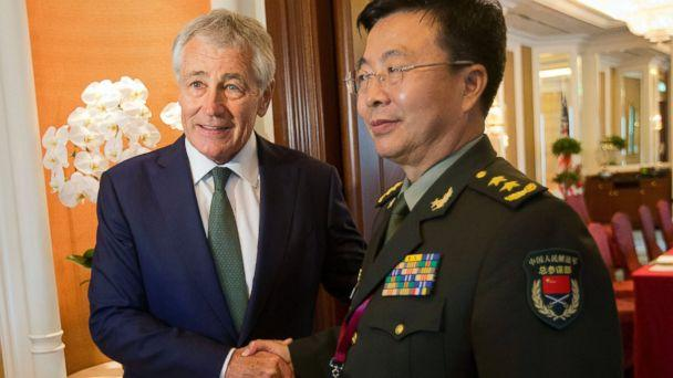 AP chuck hagel wang guanzhong jt 1400531.jpg 16x9 608 Hagel Dishes Out China Criticism, Gets It Right Back From Chinese