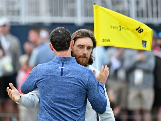 Tommy Fleetwood and Rory McIlroy remain level but are one shot off the lead (Reuters)