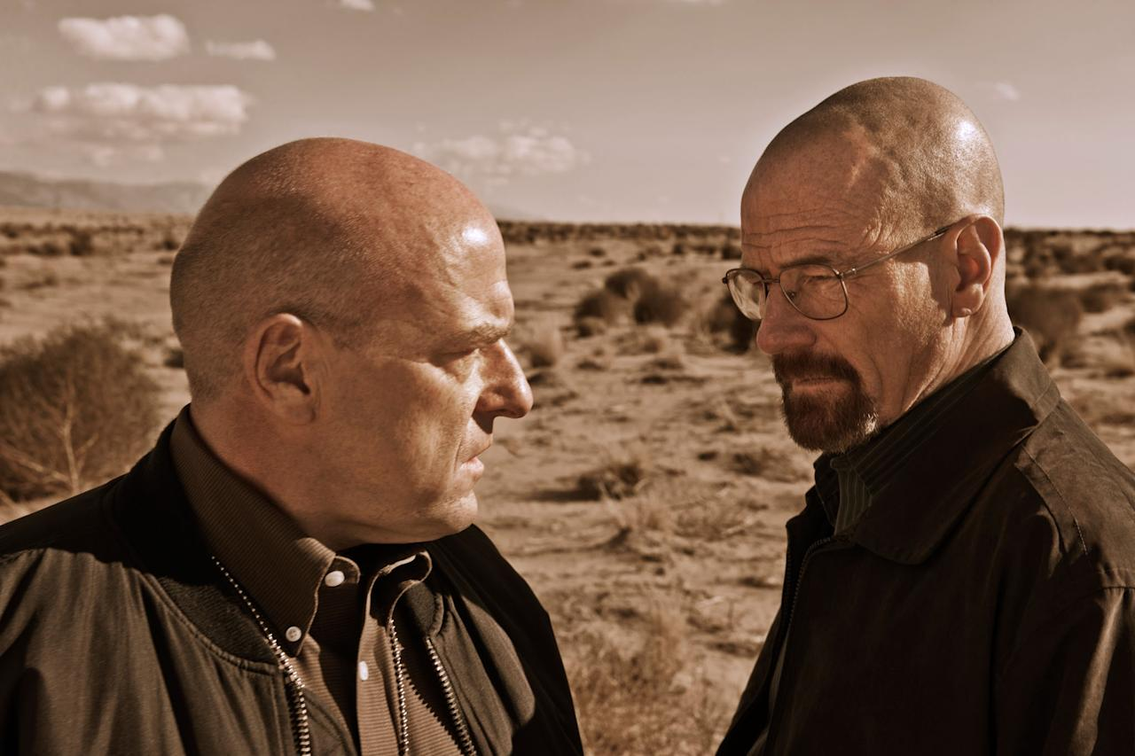 "Hank Schrader (Dean Norris) and Walter White (Bryan Cranston) in ""Breaking Bad"" Season 5."