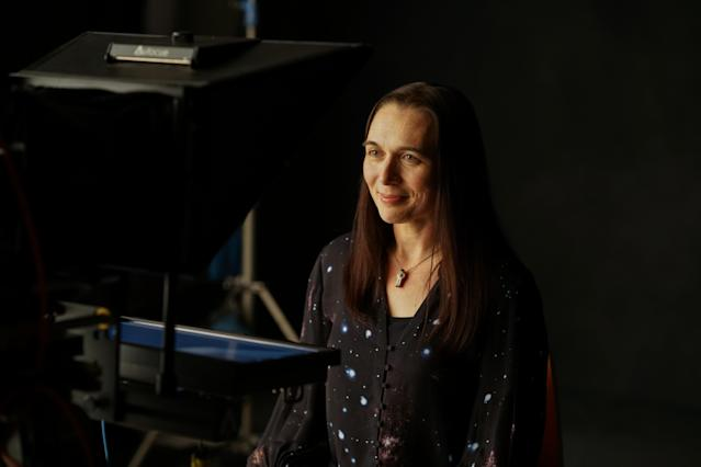 Sheyna Gifford on the set of <em>Beyond the Horizon.</em> (Photo: Ryot)