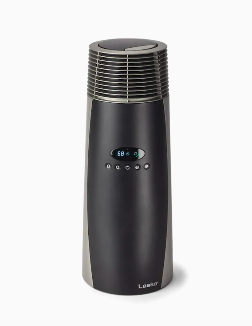 Lasko 1500-Watt Ceramic Tower Electric Space Heater (Photo via Lowe's)