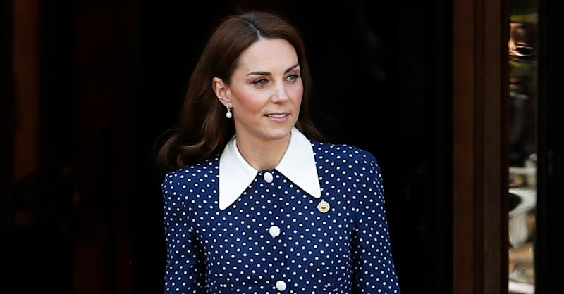 A new version of Kate's polka dot dress is now available to buy. (Getty Images)