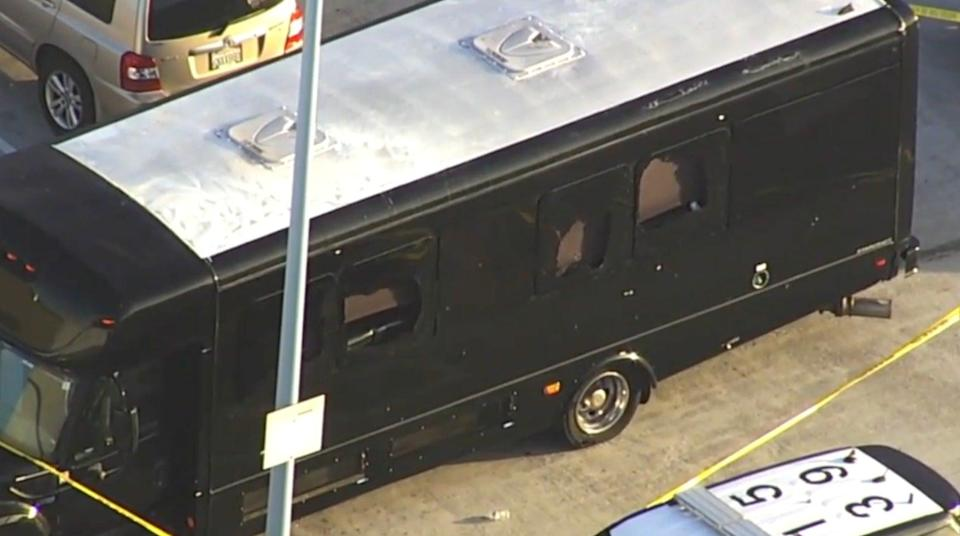 <p>Two women killed and five wounded in shooting ambush of party bus in Oakland</p> (ABC7)