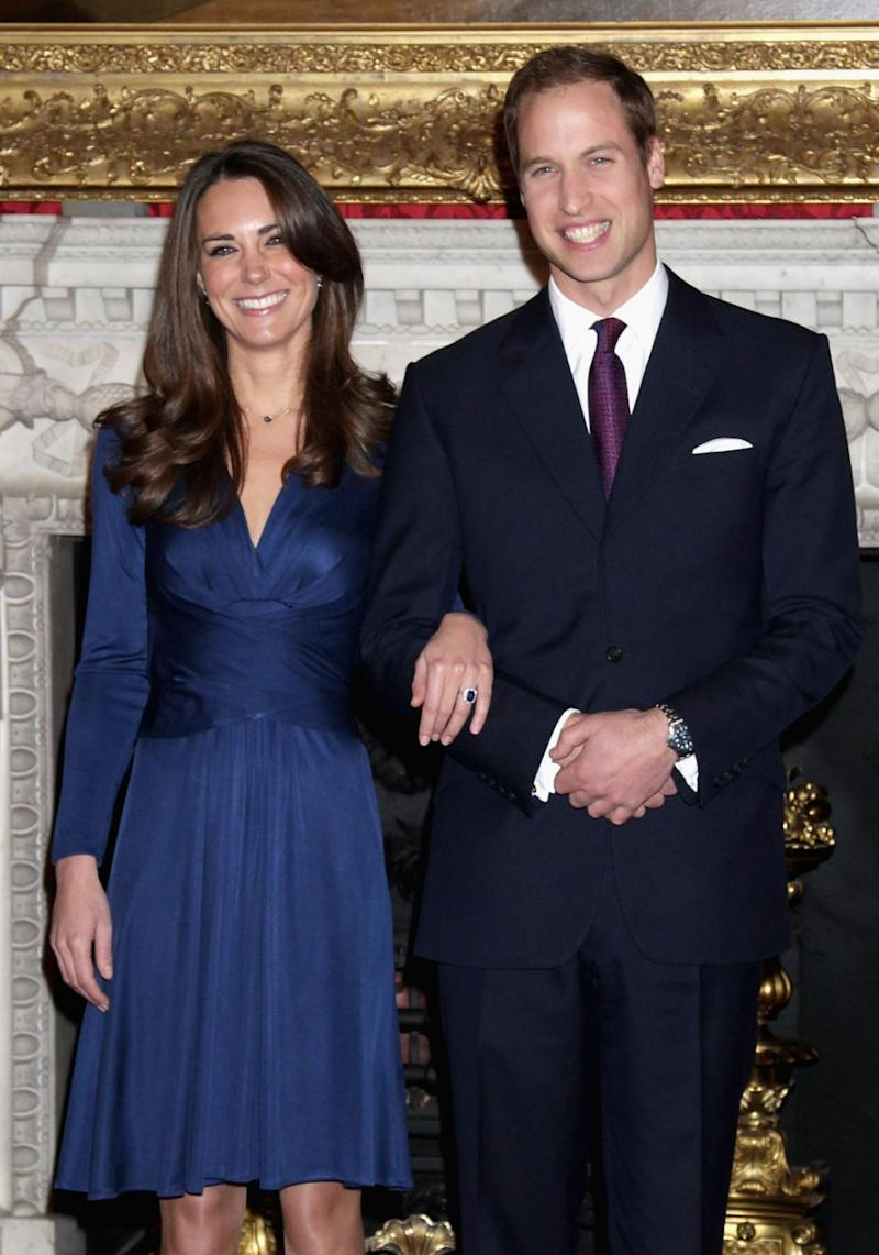 Kate and William announced their engagement in 2010, eventually marrying in 2011. Source: Getty