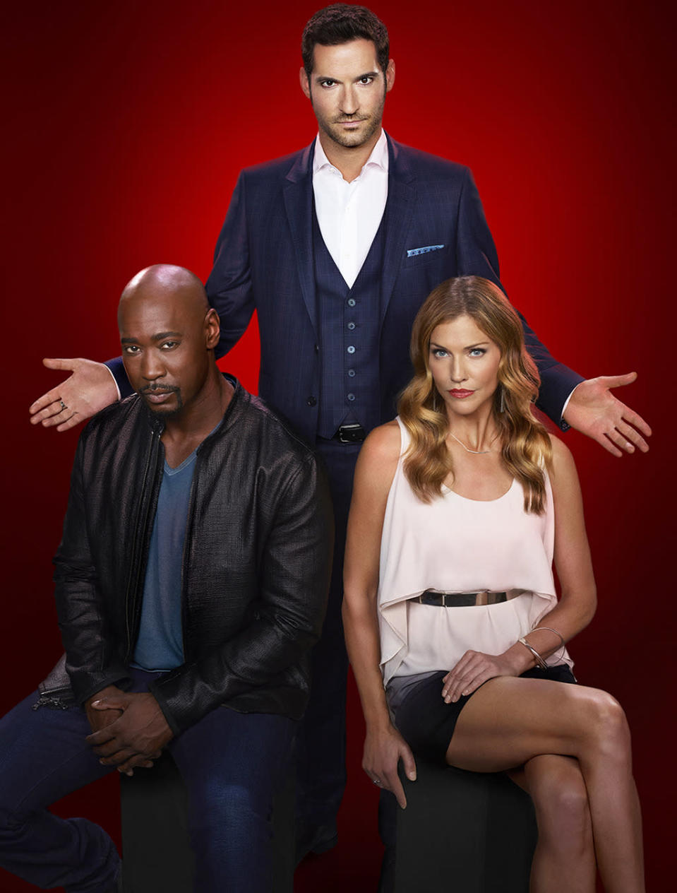 """<p><b>This Season's Theme:</b> """"Season 1 was all about Lucifer's daddy issues and Season 2 is all about dealing with his mom,"""" showrunner Joe Henderson says. """"And as we saw in the finale, he is genuinely terrified.""""<br><br><b>Where We Left Off: </b> Shot by Malcolm, Lucifer (Tom Ellis) promised God/dad he'd do anything if He would save him so that he in turn could save Chloe (his partner in crime-fighting/love interest) and her daughter Trixie. So God asked, and the ask was huge – find, capture, and return a hell escapee who just so happens to be the mother of the devil and Amenadiel, whose life was saved by his demon lover Mazikeen. <br><br><b>Coming Up: </b> So much conflict, starting with Lucifer and his mom. """"The subtext is that mom is coming after him to punish her son as he was her warden in hell, but you will come to realize that his assumptions aren't necessarily true,"""" Henderson says. Tricia Helfer (Battlestar Galactica), who is playing mommy dearest, adds, """"They have a lot of unresolved issues and quite a history of miscommunication so there's definite reason for his concern. Mom has an agenda."""" And there's Chloe, who witnessed """"Lucifer seemingly do the impossible once again."""" Henderson continues, """"She's a good cop who saw a man get shot in the stomach and be fine about two minutes later. She will look into that."""" <br><br><b>Strip Tease: </b> Henderson promises that one of the case-of-the-week episodes will double your viewing pleasure. """"Dan [Kevin Alejandro] and Lucifer go shirtless together. You're welcome, America,"""" he says. """"What happened was Kevin came in to start shooting completely ripped, so I went back to the writers room and said, 'We need to get him shirtless ASAP.' Someone else suggested we make them both go undercover on a case that required taking their clothes off. That scene is a gift that keeps on giving."""" <i> – Carrie Bell</i> <br><br>(Credit: Michael Courtney/Fox)</p>"""