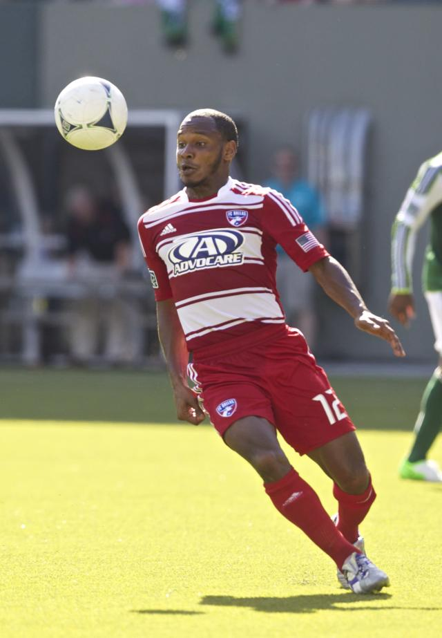 PORTLAND, OR - AUGUST 5: Julian de Guzman #12 of FC Dallas controls ball during the MLS match against Portland Timbers at Jeld-Wen Field on August 5, 2012 in Portland, Oregon. Portland and Dallas played to a 1-1 draw. (Photo by Steve Dipaola/Getty Images)