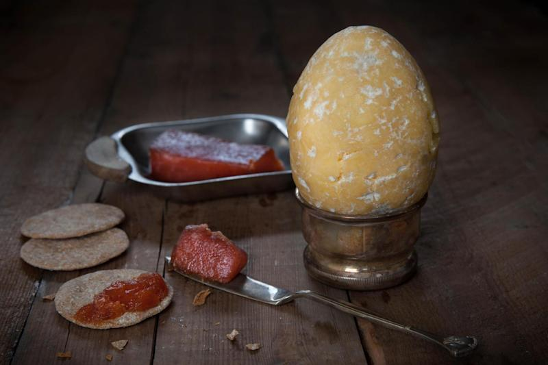 The Cheester Egg is made from Napier cheese, which is crumbly yet creamy in texture: So Wrong It's Nom