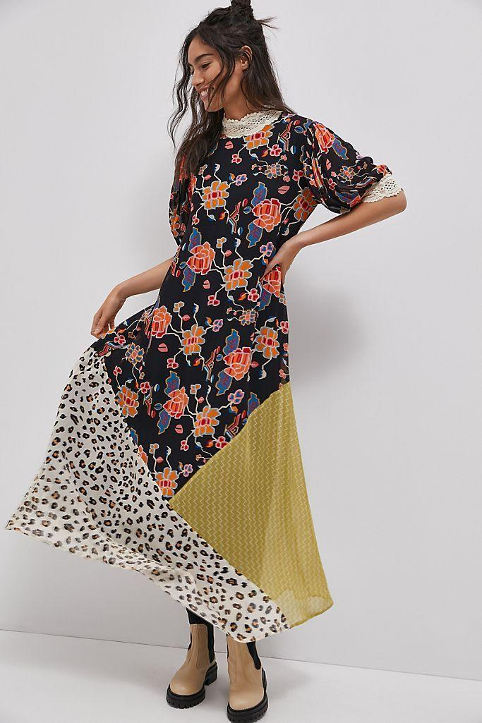 """<p><strong>Verb by Pallavi Singhee Anthropologie</strong></p><p>anthropologie.com</p><p><strong>$129.95</strong></p><p><a href=""""https://go.redirectingat.com?id=74968X1596630&url=https%3A%2F%2Fwww.anthropologie.com%2Fshop%2Fsoniya-maxi-dress&sref=https%3A%2F%2Fwww.seventeen.com%2Ffashion%2Fg34728590%2Fanthropologie-2020-black-friday-sale%2F"""" rel=""""nofollow noopener"""" target=""""_blank"""" data-ylk=""""slk:Shop Now"""" class=""""link rapid-noclick-resp"""">Shop Now</a></p><p>I was today years old when I learned that leopard print and florals actually look <em>really </em>cute together.</p>"""
