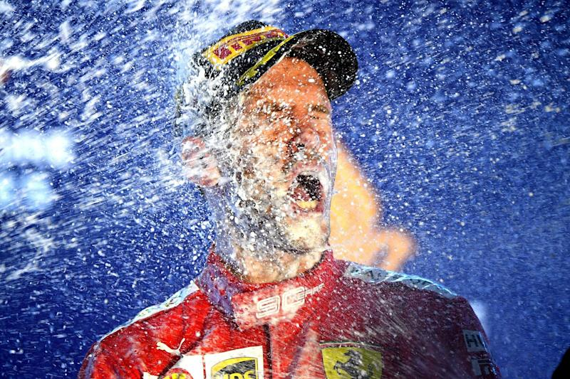 Vettel celebrates his first win of the season (Getty Images)