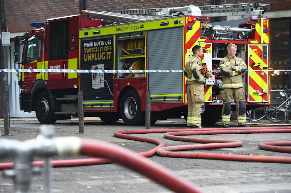 Fire fighters at the scene (Kirsty O'Connor/PA) (PA Archive)