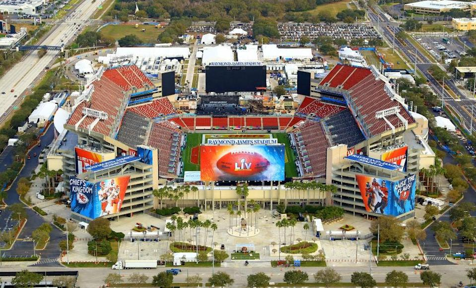 Raymond James Stadium will host Super Bowl LV on SundayGetty
