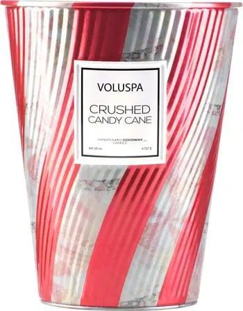 <p>Refresh your candle collection with this <span>Voluspa Crushed Candy Cane Giant Ice Cream Cone Table Candle</span> ($36). Decked out with sweet notes like peppermint, sugar cookies, and vanilla bean, this pick offers a welcomed break from your pine and spruce scents.</p>