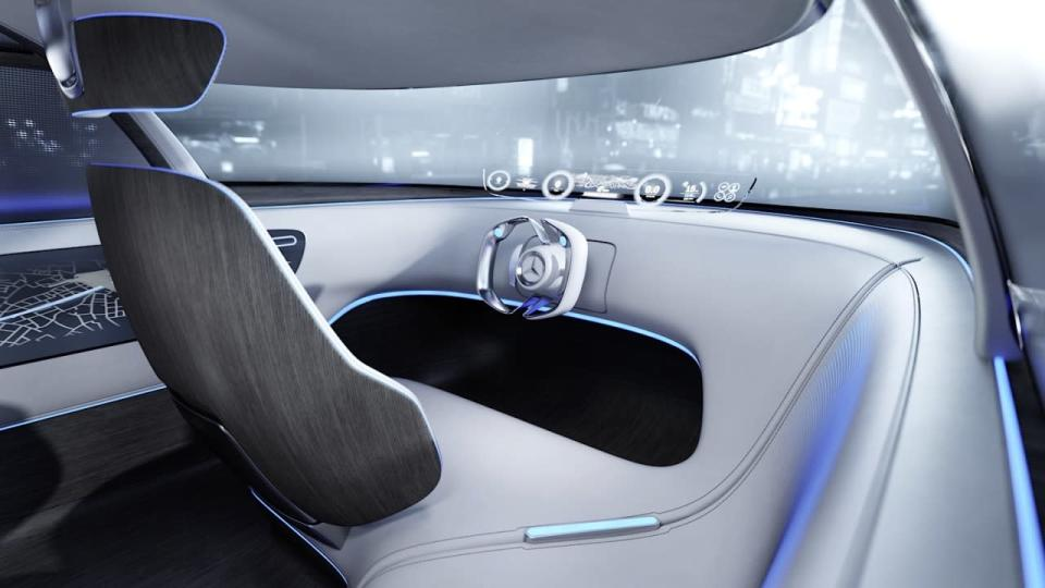 <p>Of course the Vision Toyko is a self-driving car, and while just a few months ago Mercedes' executives were saying their cars would always have steering wheels, most of the other controls for a driver have been minimized. The driver's seat will stow away for when the car itself does all of the work. <br></p>