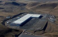 FILE PHOTO: The Tesla Gigafactory is seen in an aerial picture near Sparks