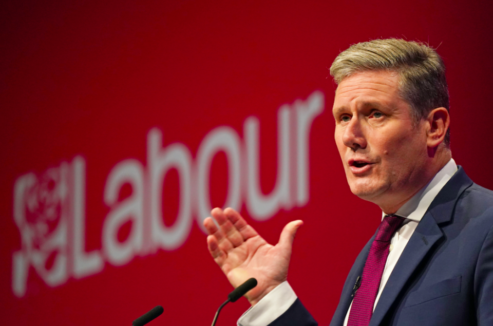 Sir Keir Starmer was met with heckles while talking about his late mother. (PA)