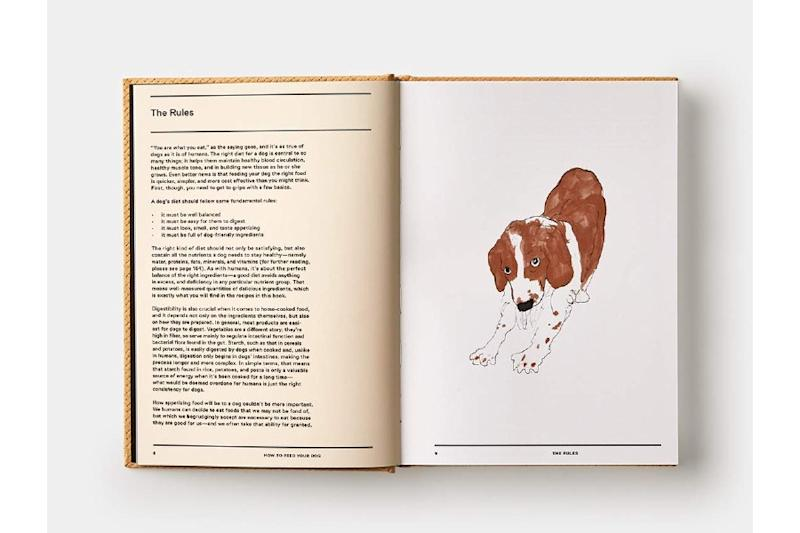 This canine cookbook is worth gifting for the charming illustrations alone! (Photo: Amazon)