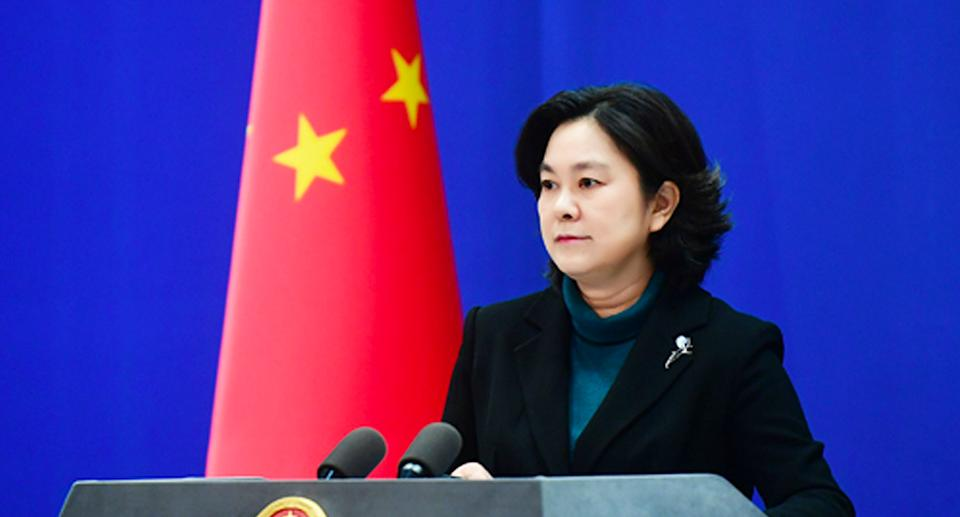 Hua Chunying was unrelenting on Tuesday night when addressing allegations of human rights abuses in Xinjiang.. Source: FMPRC