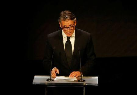 Athletics - IAAF Athletics Awards - Grimaldi Forum, Monaco - November 24, 2017 IAAF president Sebastian Coe during the awards REUTERS/Eric Gaillard