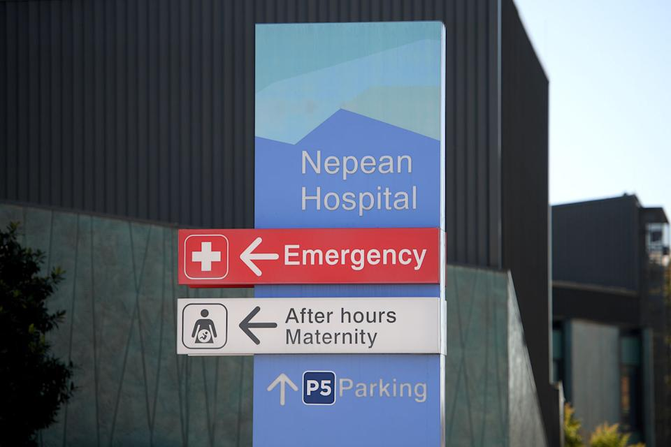 Pictured is  Nepean Hospital