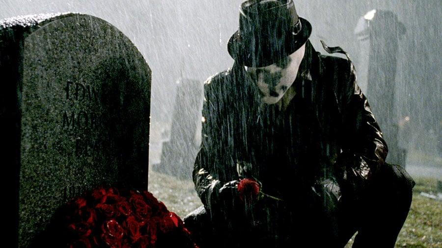 """<p>Largely considered the protagonist of the comics, Rorschach (Jackie Earle Haley), whose real name is Walter Kovacs, wears a black and white Rorschach mask that reflects his moral absolutism - there is right and there is wrong with no shades of grey in between. His origin as a crimefighter stems from the <a href=""""https://www.popsugar.com/entertainment/Best-Documentaries-Netflix-2018-44996858"""" class=""""ga-track"""" data-ga-category=""""Related"""" data-ga-label=""""https://www.popsugar.com/entertainment/Best-Documentaries-Netflix-2018-44996858"""" data-ga-action=""""In-Line Links"""">real-life Kitty Genovese case</a>, where several neighbors heard said woman being raped and murdered in Queens and no one intervened or called the police. After that, Rorschach began fighting crime as a vigilante and eventually teamed up with Nite Owl II (Patrick Wilson), which is how the Watchmen first started.</p>"""
