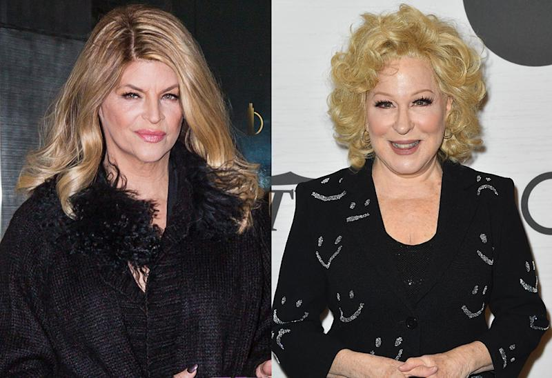 Kirstie Alley is among those taking Bette Midler to task over a tweet about black Trump supporters. (Photos: Getty Images)