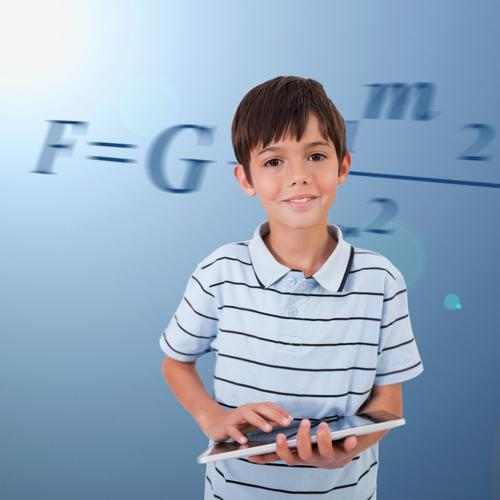 Boy with a tablet computer