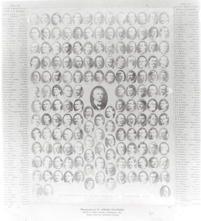 This undated image released by the Alabama Department of Archives and History shows members of the all-white convention that approved Alabama's 1901 Constitution, which was intended to maintain white supremacy in the state. With the nation focused on racial justice because of the police killings of George Floyd and other Black people, state voters are being asked to remove racist phrases from the document once and for all. While no organized opposition has emerged, some worry that a conservative backlash against protests over racial injustice could harm the chances for passage. (AP Photo/Alabama Department of Archives and History)