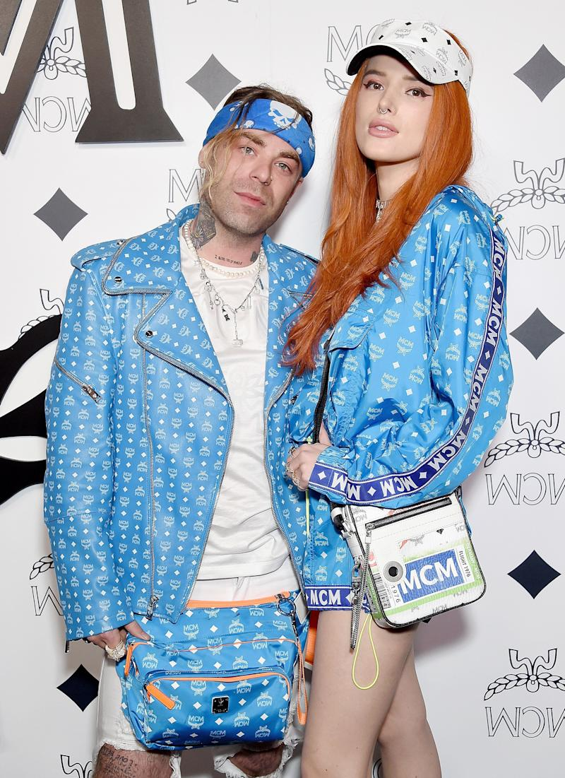 BEVERLY HILLS, CA - MARCH 14: Bella Thorne and Mod Sun attend MCM Global Flagship Store Grand Opening On Rodeo Drive at MCM Global Flagship Store on March 14, 2019 in Beverly Hills, California. (Photo by Gregg DeGuire/WireImage)