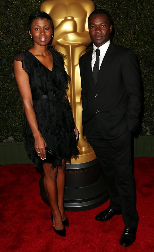 HOLLYWOOD, CA - DECEMBER 01:  Actress Emayatzi Corinealdi (L) and actor David Oyelowo attend the Academy Of Motion Picture Arts And Sciences' 4th Annual Governors Awards at Hollywood and Highland on December 1, 2012 in Hollywood, California.  (Photo by Frederick M. Brown/Getty Images)