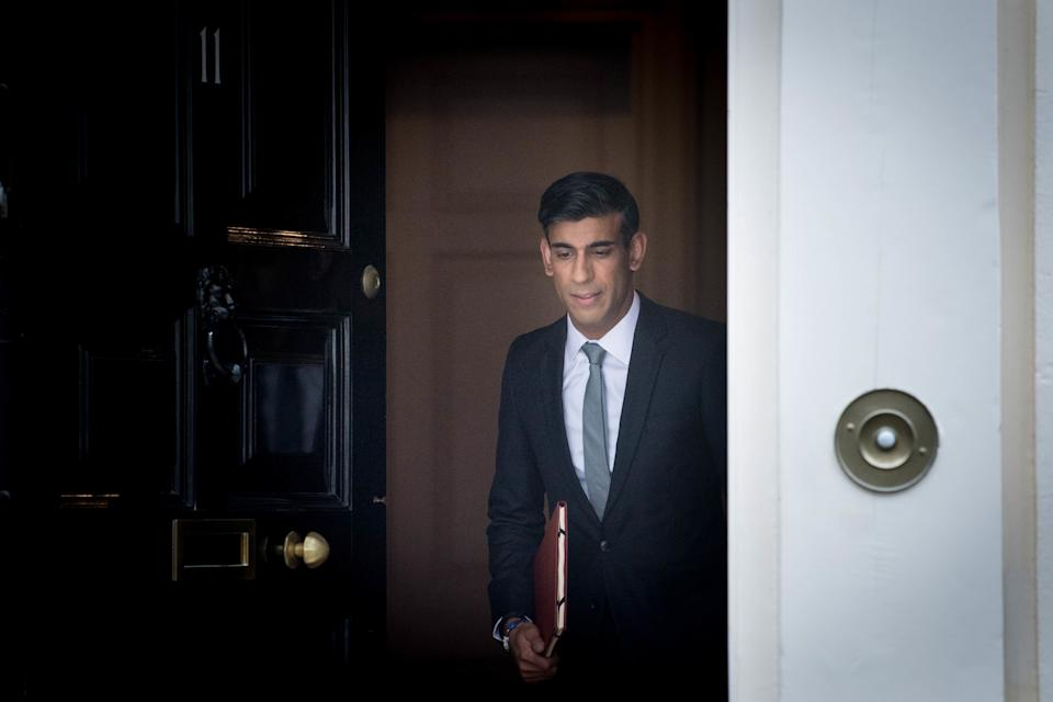 Chancellor of the Exchequer Rishi Sunak departs 11 Downing Street, in Westminster, London, to deliver a summer economic update at the Houses of Parliament. PA Photo. Picture date: Wednesday July 8, 2020. See PA story POLITICS Coronavirus. Photo credit should read: Stefan Rousseau/PA Wire