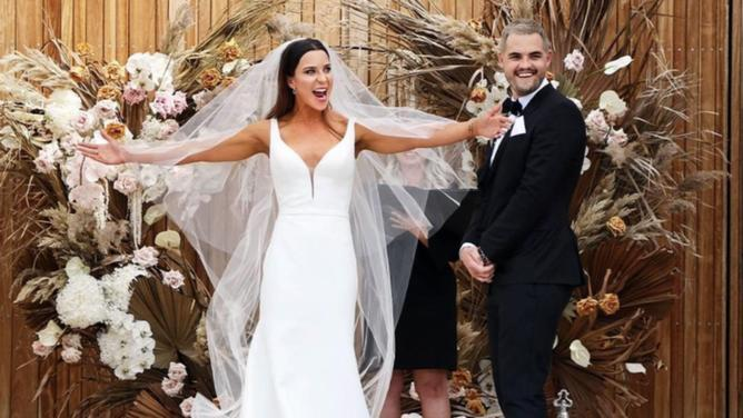 MAFS bride Coco transformation image at MAFS wedding