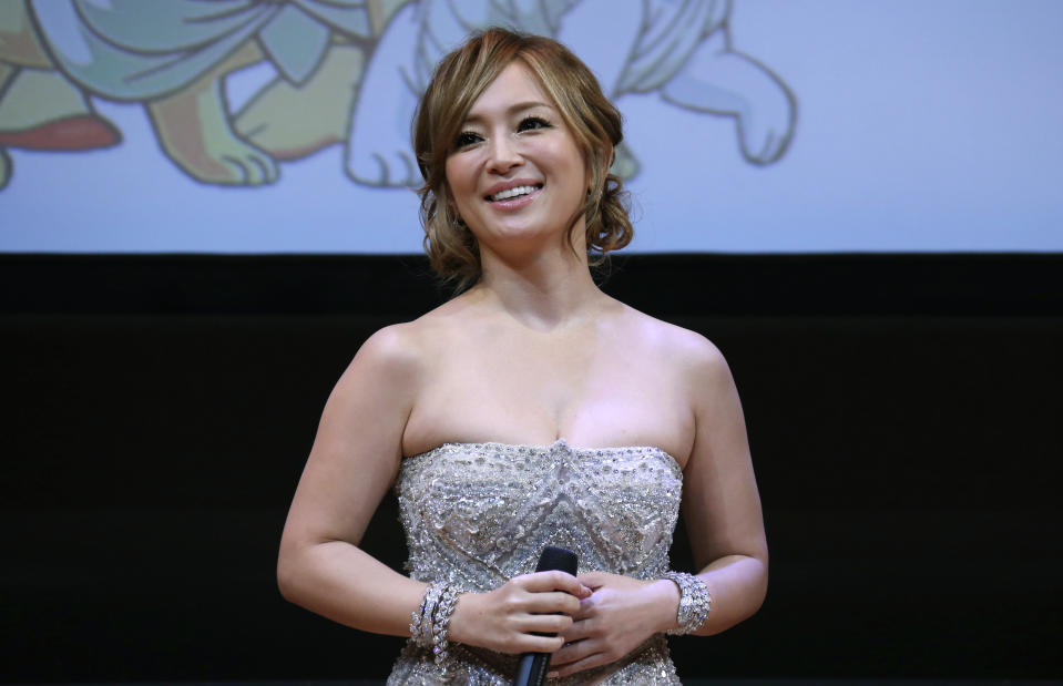 """Japanese singer Ayumi Hamasaki attends the world premiere of manga film """"Buddha 2"""" at the Louvre museum in Paris January 27, 2014. REUTERS/Gonzalo Fuentes (FRANCE - Tags: ENTERTAINMENT)"""