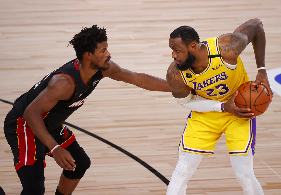 Can Jimmy Butler and the Heat mount a Game 5 challenge? (Kevin C. Cox/Getty Images)