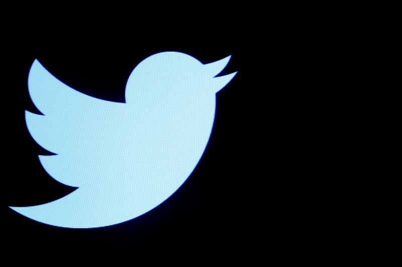 File photo of the Twitter logo displayed on a screen on the floor of the NYSE