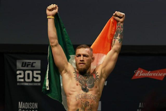 UFC lightweight champion Conor McGregor will box Floyd Mayweather on Aug. 26 in Las Vegas. (Getty Images)