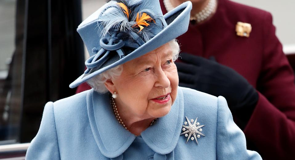 Stewart Parvin dressed Her Majesty in blue for last month's Commonwealth service (Getty Imges)