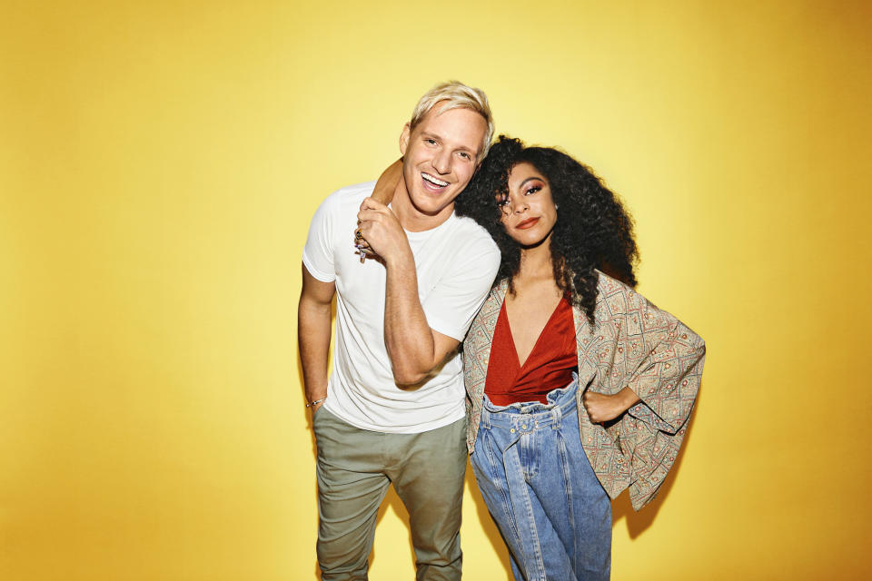 WARNING: Embargoed for publication until 00:00:01 on 06/10/2021 - Programme Name: I Like The Way U Move - TX: n/a - Episode: I Like The Way U Move - generics (No. n/a) - Picture Shows:  Jamie Laing, KK Harris - (C) BBC - Photographer: Zoe McConnell