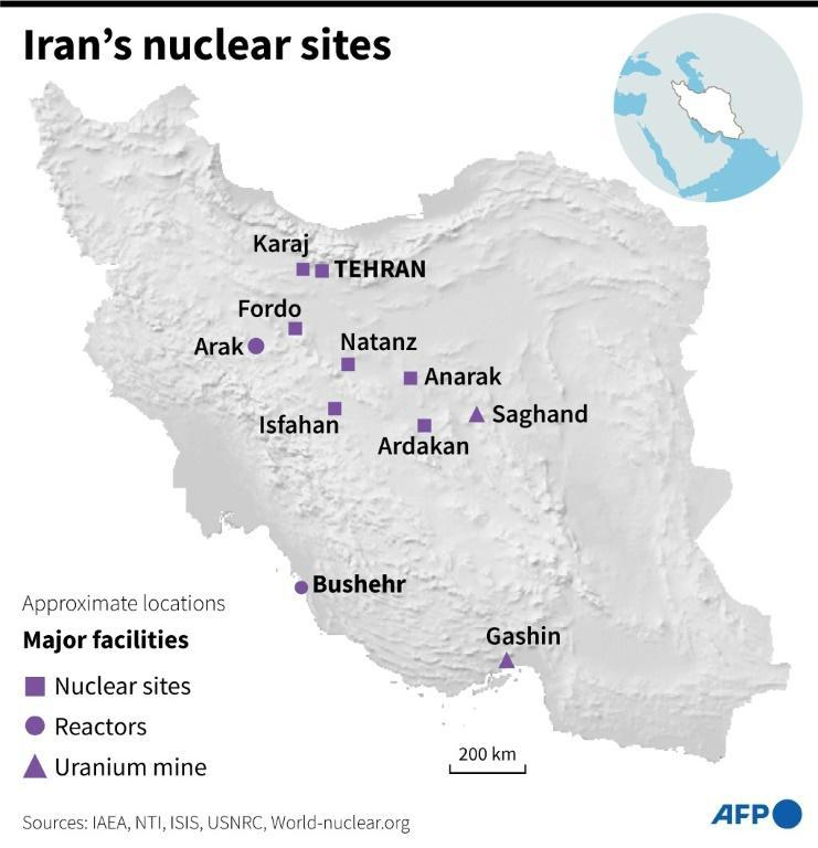 Iran's nuclear sites (AFP/Gal ROMA)