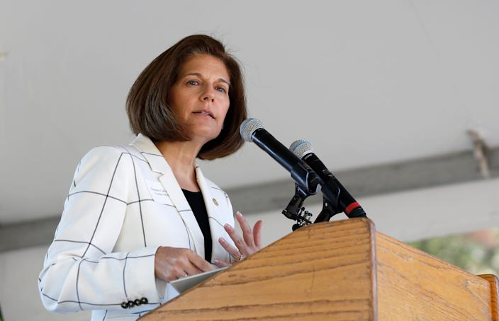 Sen. Catherine Cortez Masto, D-Nev., could help Joe Biden win Hispanics' support.