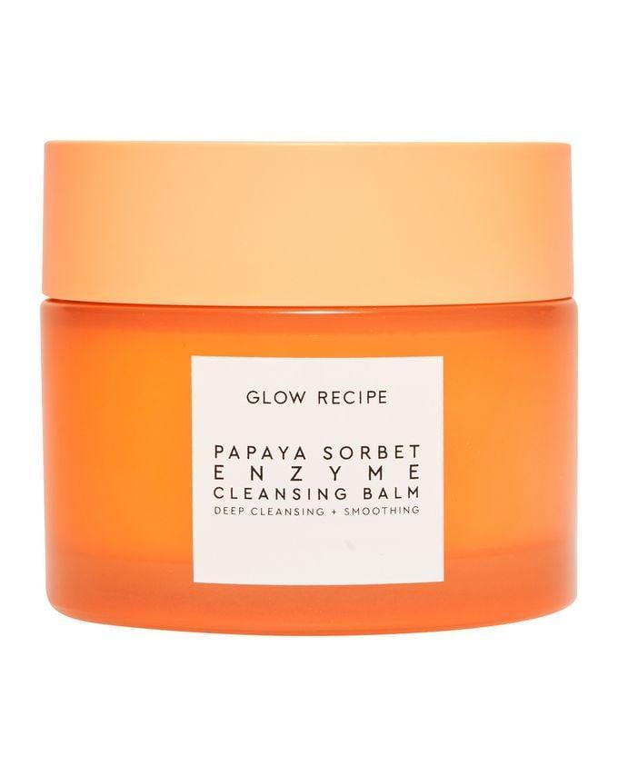 <p>Whatever holdups you might have from your past bad relationship with cleansing balms, we're happy to report that <span>Glow Recipe Papaya Sorbet Enzyme Cleansing Balm</span> ($32) is the exception. The sorbet-like balm melts into a milky cleanser that rinses off clean and takes every bit of makeup - yes, even your toughest waterproof mascara - with it, keeping skin feeling super hydrated thanks to the combo of fruit-derived enzymes, oils, and extracts.</p>
