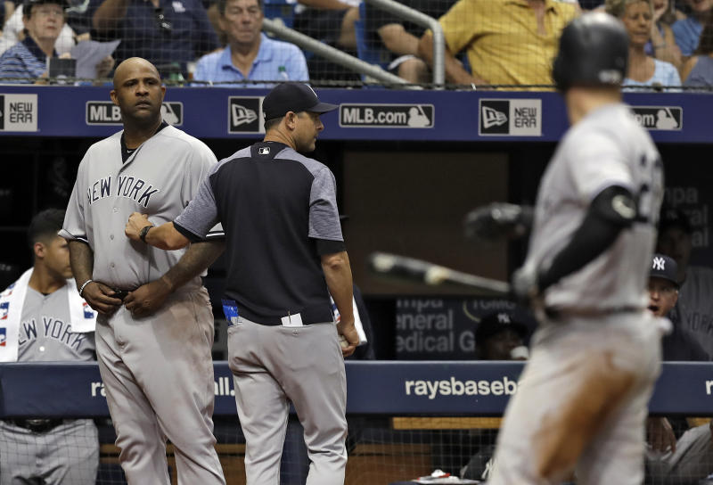 Major League Baseball punishes CC Sabathia for Rays episode