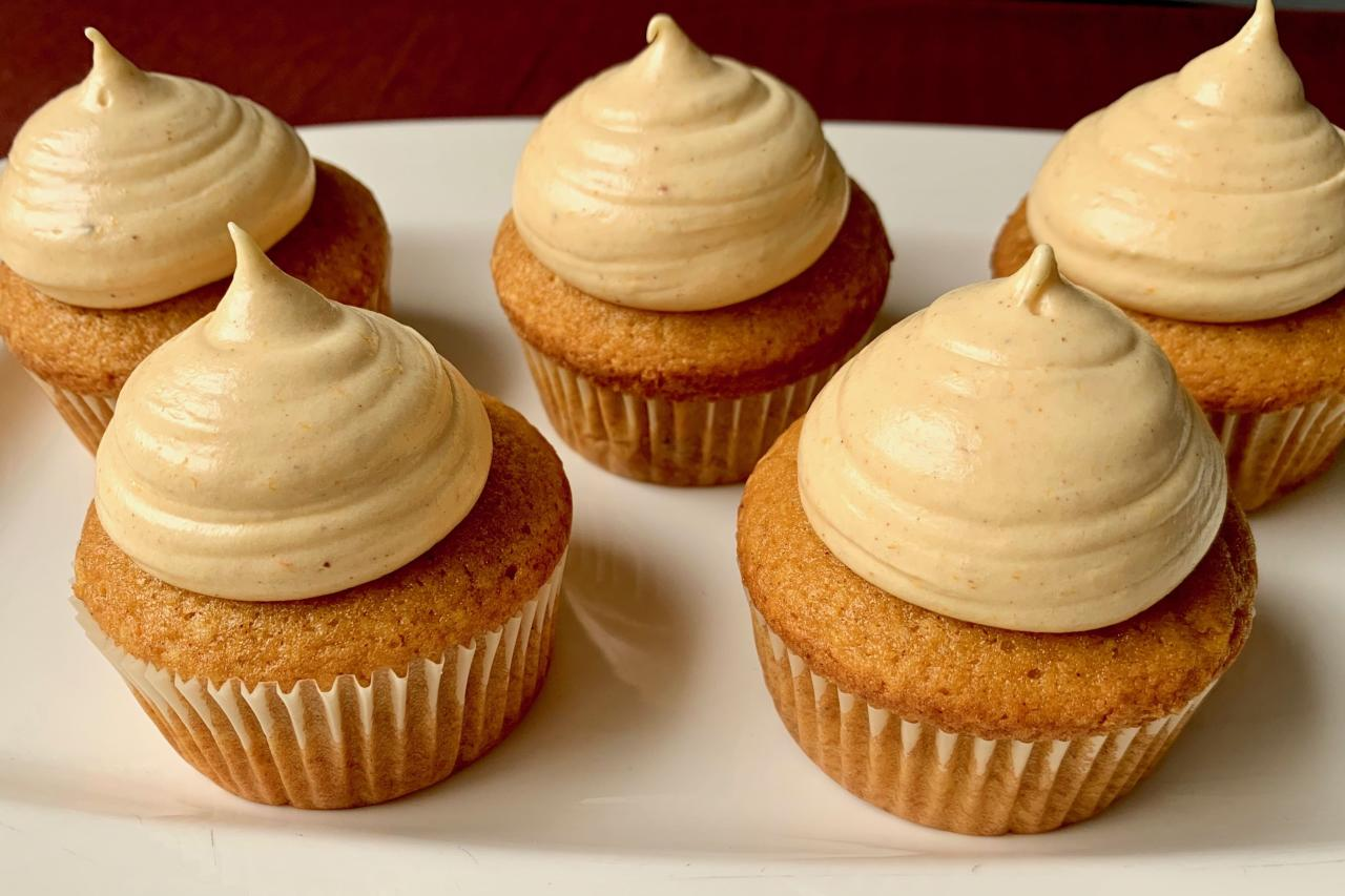 """<p><strong>Recipe:</strong> <a href=""""https://www.southernliving.com/recipes/pumpkin-spice-cupcakes"""" target=""""_blank"""">Pumpkin Spice Cupcakes</a></p> <p>This sweet treat is perfect to share with your neighbors this fall.</p>"""