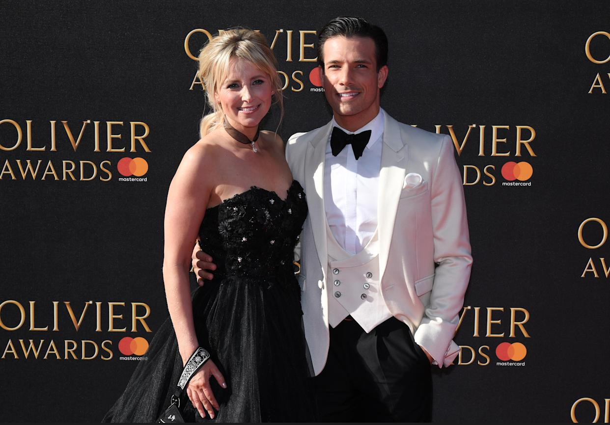 Carley Stenson and Danny Mac are preparing for the arrival of their first child. (Photo by Chris J Ratclife/PA Images via Getty Images)