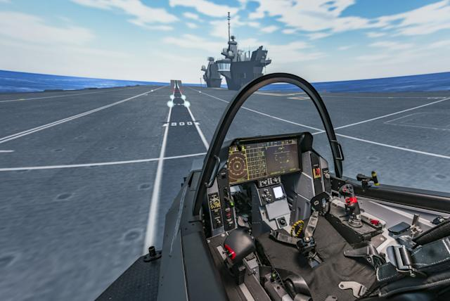 F-35 Lightning II flight simulator BAE Systems