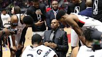 <p>The 905 calls a timeout with 8:29 left in the fourth quarter. Despite cutting the lead down to single digits to start the period, the Spurs went on an 8-2 run to open up a 15-point lead. (Photo courtesy: Trung Ho) </p>