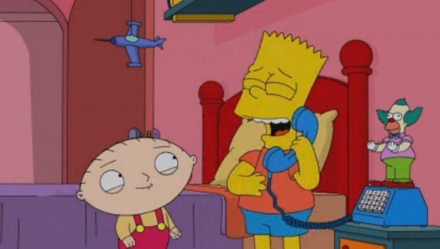 In 2014, a much-awaited crossover between The Simpsons and Family Guy finally aired, though it ended up attracting attention for all the wrong reasons.<br /><br />As if the fact the episode was subpar for both shows wasn't offensive enough, The Simpsons Guy also contained an ill-advised rape joke, which came under fire from both viewers and critics.