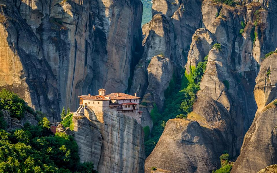 """""""The contrasts in landscape and culture are fairly extreme – mountains, plateaux, rivers, lakes, hot springs, volcanoes; Greece has it all"""" - getty"""